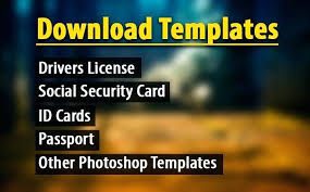 Free Dl Template License Security Social Flyer Driving Card Fake Tent Id Templates Files