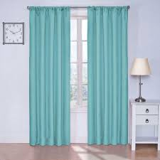 Eclipse Kendall Blackout Turquoise Curtain Panel, 63 in. Length
