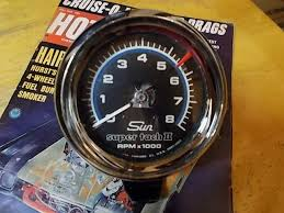 sun super tach ii 70 039 s vintage nice graphics mounting cup above vintage sun super tach ii the 8 000 rpm dial showing really nice graphics in the blue white black and the adjustable redline