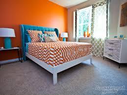 Orange Bedroom Decor Apartment Decor Is Orange The New Black Apartmentguidecom