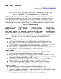 accounting manager resume | Accounting Manager in NYC Resume Delores Stolfi