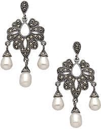 marcasite chandelier earrings