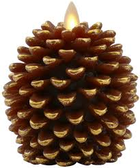 Pine Cone Candles Amazoncom Luminara Pine Cone Candles 35 X 4 Unscented Battery
