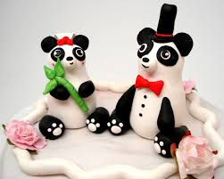 Cake Decorating Animal Figures Panda Cake Topper Etsy