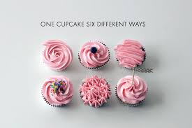 cool cupcake designs with icing. Wonderful Cupcake Six Cupcakes Decorate In Pink Icing Different Ways Intended Cool Cupcake Designs With Icing N