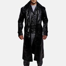 mens desperado black leather coat vest 1