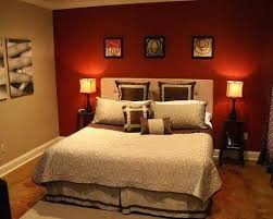 Brown And Red Bedroom Rustic Master Bedroom ...