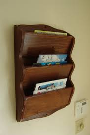 wood letter holder wall mount