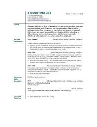Student Resume Objective Free Resume Templates 2018