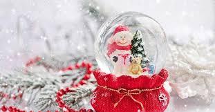 diy snow globe in red