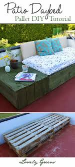 use pallets to create a modern and chic patio daybed why buy expensive outdoor furniture buy pallet furniture