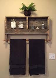... Rustic Pallet Wood Indoor Furniture Outdoor Bathroom Towel Rack Shelf  Ideas: Glamorous Bathroom ...