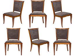 Furniture: Art Deco Dining Chairs Elegant Set Of 6 French Art Deco Period  Dining Chairs