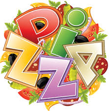 Pizza Logo Wandtattoo - TenStickers