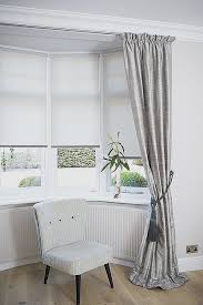 bay window blinds. Curtains For Bay Windows Ikea Elegant Dressing A Window By Bining And Roller Blinds