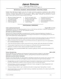 Product Design Engineer Resume Resume Mechanical Design Engineer