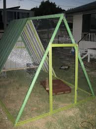 diy repurposed swing set en coop