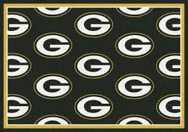 green bay packers green background sports team rug