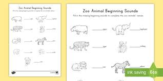 Help your child learn, and have fun. Zoo Animals Beginning Sounds Activity Teacher Made