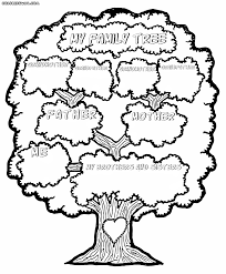 Family tree coloring pages | Coloring pages to download and print