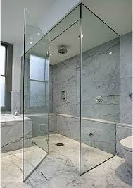 contemporary shower heads. Contemporary Bathroom With Rainfall Shower Head And Glass Door Heads S
