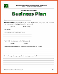 Basic Business Plan Outline Free Simple Business Plan Template Word Program Format