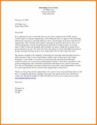 11 Cover Letter For Engineering Internship Resign Latter