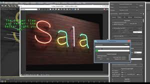 Vray Neon Light Tutorial Neon Letters With Vray 3ds Max