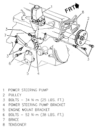 find all bolts on power steering on chevy cavalier cylinder graphic