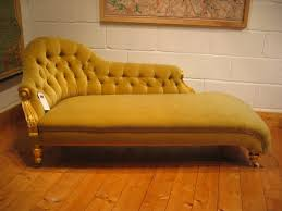 yellow color antique victorian chaise lounge sofa with wooden furniture frame and wheels black red classic