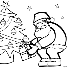 Santa Coloring Pages 2019