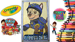 Paw Patrol Crayola Giant Coloring Page Coloring Chase On The Case