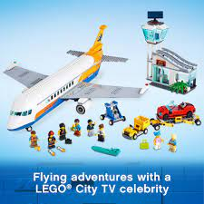 LEGO CITY 60262 Máy Bay Chuyên Chở Hành Khách ( 669 Chi tiết) Bộ gạch đồ  chơi lắp ráp cho trẻ em - Đồ chơi học tập