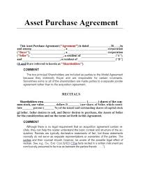 Purchase Agreement Samples Asset Purchase Agreement Vs Stock Purchase 17 Asset Purchase
