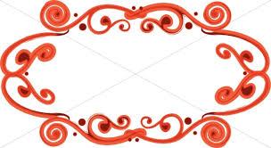 fancy frame border. Red Fancy Oval Frame Border A