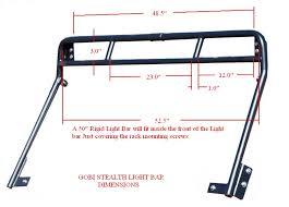 specifications gobi jeep jk recon 4 door roof rack dimensions gobi gobi jk recon stealth light bar dimensions