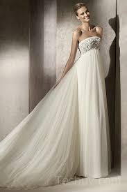 empire strapless tulle maternity wedding dress with removable