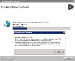 Casewise Suite Install Invalid Digital Signature Error 1330 Erwin