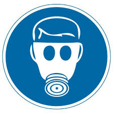 International Symbols Labels Wear Respiratory Protection Graphic