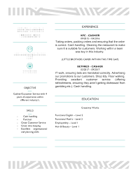 Resume Wording For Cashier Cashier Cv Examples The Cv Database