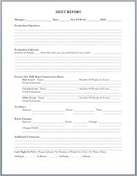 Production Reporting Templates Production Shift Report Template Microsoft Word Templates