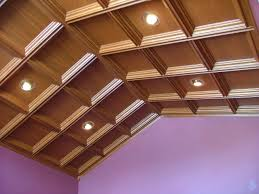 magnificent design coffered ceiling with brown color wooden coffered ceiling and recessed ceiling lights