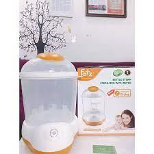 Máy tiệt trùng hơi nước sấy khô Fatz baby FB4906SL không BPA, chứa được 8  bình sữa, có kèm đồ gắp