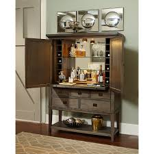 contemporary bar cabinet with bottle storage and pullout shelf by