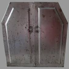 antique metal spice cabinet industrial