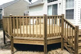deck railing designs ideas wood diy simple