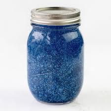 blue glitter jar