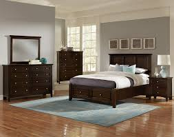 Mansion Bedroom Furniture Vaughan Bassett Bonanza Queen Mansion Storage Bed With 2 Drawers