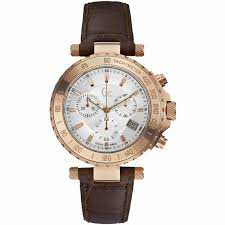 guess collection gc men s chronograph rose gold leather band watch x58004g1s 130 00