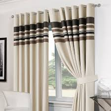 blackout curtains pair. Beautiful Curtains Striped Ring Top Lined Pair Eyelet Ready Made Thermal Blackout Curtains  Tiebacks Throughout